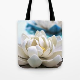 Flowers on the pond Tote Bag