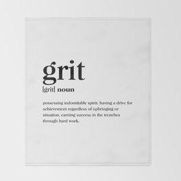 Grit Definition Throw Blanket