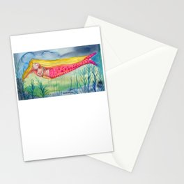 Melodramatic Mermaid Stationery Cards