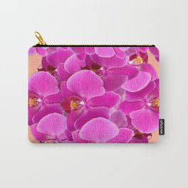 PEACHY CERISE PURPLE ORCHID CLUSTER Carry-All Pouch