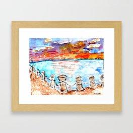 sunset art #4 Framed Art Print