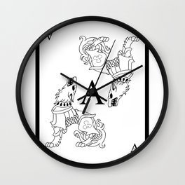 Wolf Ace Wall Clock