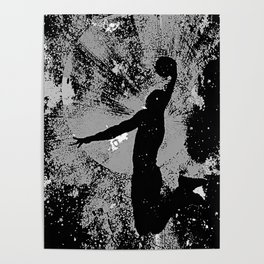 SLAM DUNK IN BLACK AND WHITE Poster