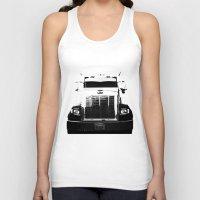 truck Tank Tops featuring Peterbilt Truck by MJMarshall Design