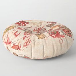 Famous Spicy Chinese Cuisine Floor Pillow