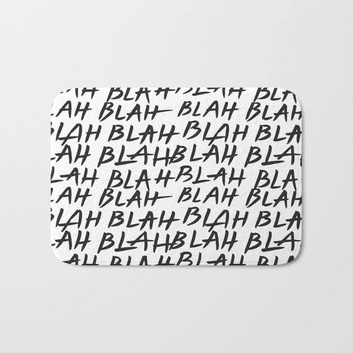 Blah Blah Bath Mat