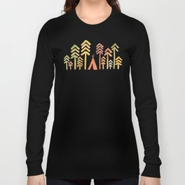 Tepee in the forest Long Sleeve T-shirt