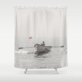 Lifeboat Atlantic City Shower Curtain