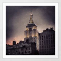 gotham Art Prints featuring Gotham by Amritha Mahesh