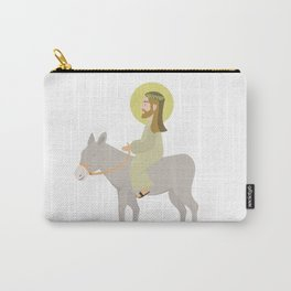 Jesus Riding Donkey Palm Sunday Carry-All Pouch