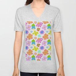 Mod Scandinavian Floral Unisex V-Neck
