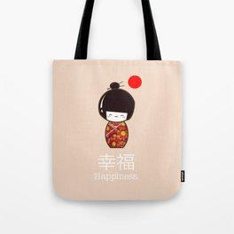 Geisha Girl Happiness Kawaii Tote Bag