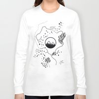 middle earth Long Sleeve T-shirts featuring Middle Earth by Cécile Pellerin