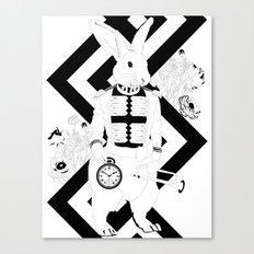 Alice in Wonderland Series - I'm late, I'm late... for a very important date! Canvas Print