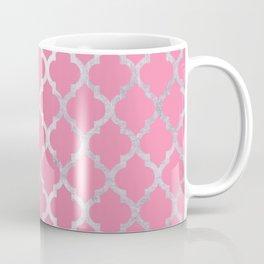 Moroccan Silver & Pink III Coffee Mug
