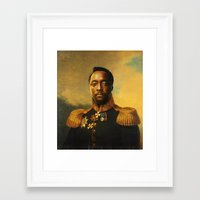 replaceface Framed Art Prints featuring will.i.am - replaceface by replaceface