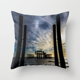 Brighton Seascape II Throw Pillow