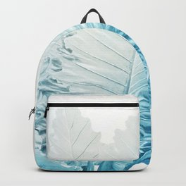 Cool Blue Leaves Backpack