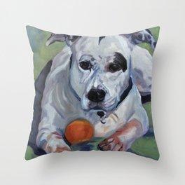 Staffordshire Terrier Dog Portrait Throw Pillow