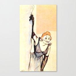 """Henri de Toulouse-Lautrec """"Yvette Gilbert before the curtain"""" Canvas Print"""