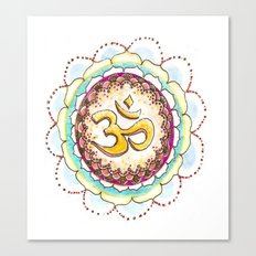 Radiating Om Canvas Print