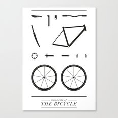 Simplicity of the bicycle Canvas Print