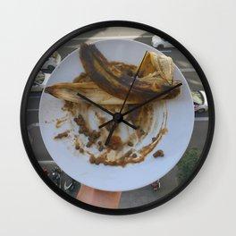 lentejas y plátano Wall Clock