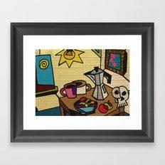 Breakfast in Cubism Framed Art Print