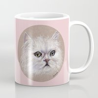 persian Mugs featuring Persian cat by Pendientera