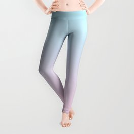 VAPORWAVE - Minimal Plain Soft Mood Color Blend Prints Leggings