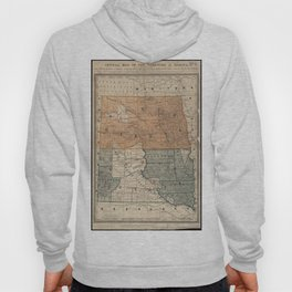 Vintage Map of North and South Dakota (1886) Hoody