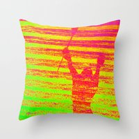 lacrosse Throw Pillows featuring LACROSSE ADRLN by TMCdesigns