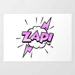 Zap Typography! Art Print