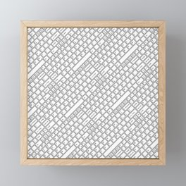 Keyboarded Framed Mini Art Print