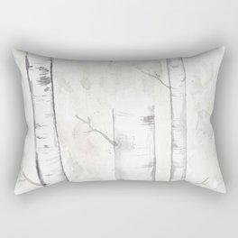 Minimalist Birch Trees Rectangular Pillow
