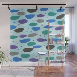 Winter Blue Ice Storm Wall Mural