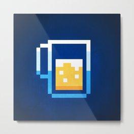 Pixel Beer Metal Print