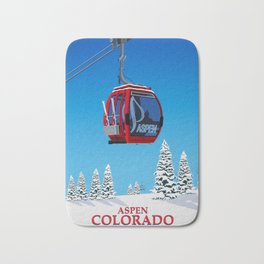 Aspen Colorado Ski Resort Cable Car Bath Mat