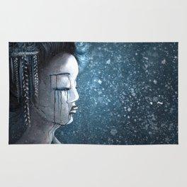 Geisha in Snow: The Stoic Concubine Rug