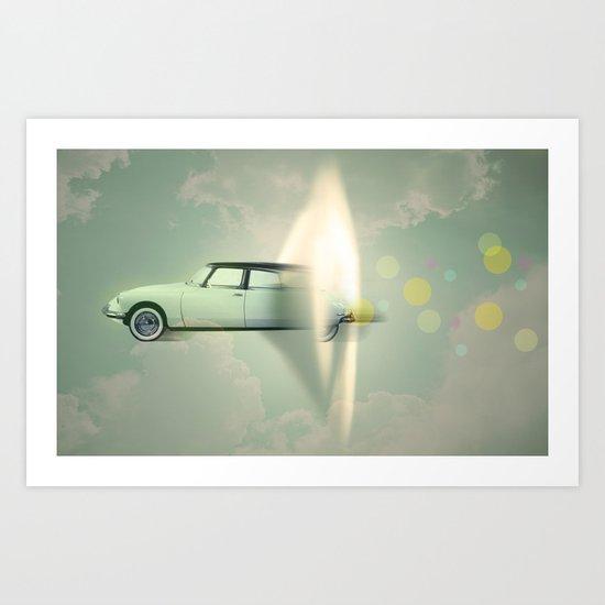 supersonic citroen Art Print
