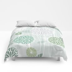 Abstract Floral by Friztin Comforters