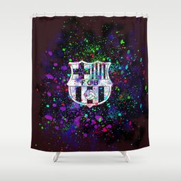 Watercolor Barcelona FC Shower Curtain