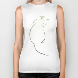 Cat Looking Back Biker Tank