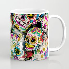 Sugar Skull Collage Coffee Mug