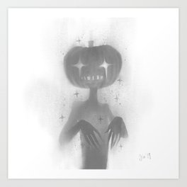 Pumpkin Guy Art Print