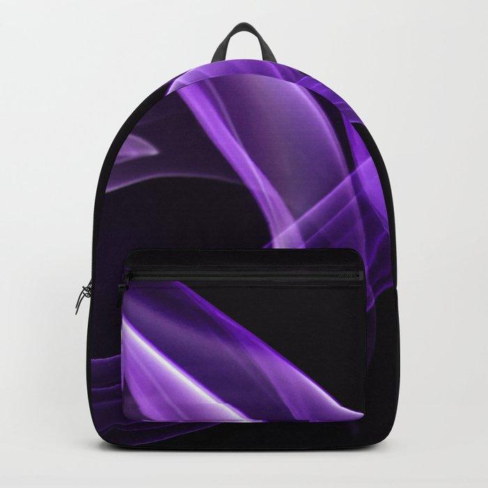Smoke creation in cardinal purple tones Backpack