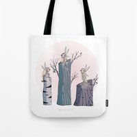 pixies Tote Bags featuring Pixies by Martina Naldi