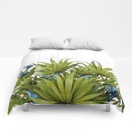 """El Bosco fantasy, tropical island blue butterflies 02"" Comforters"