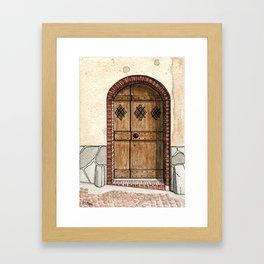 Little house, little door Framed Art Print