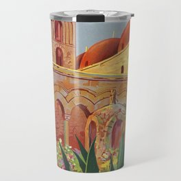vintage 1920s Palermo Sicily Italian travel ad Travel Mug